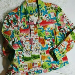 N.T. Norm Thompson Spring Scene Jacket- Size M